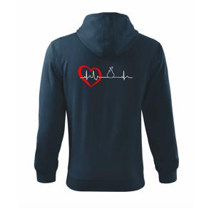 Hruška EKG - Mikina s kapucí na zip trendy zipper