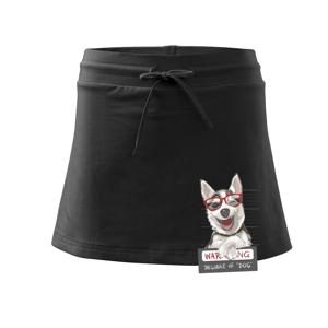 Husky - beware of dog - Sportovní sukně - two in one
