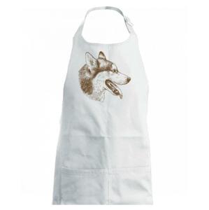 Husky - hlava z boku - Dětská zástěra na vaření