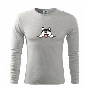 Husky veselý - Triko s dlouhým rukávem FIT-T long sleeve