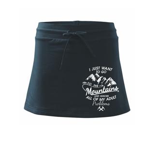 I just to go Mountains - Zahoď prolémy a jdi do hor - Sportovní sukně - two in one