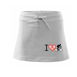 I love cycles výplet - Sportovní sukně - two in one