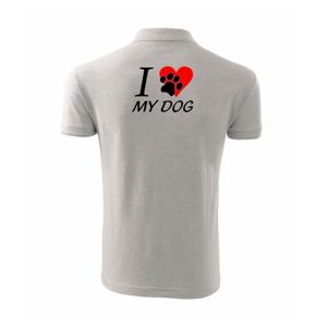 I love dog - nápis - Polokošile pánská Pique Polo 203