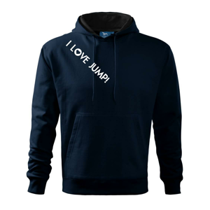 I love Jump! - Mikina s kapucí hooded sweater