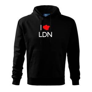 I Love LDN - Mikina s kapucí hooded sweater