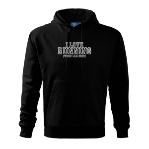 I love running when i done - Mikina s kapucí hooded sweater