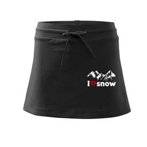 I love snow hory - Sportovní sukně - two in one