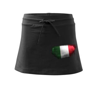 Italská vlajka okousaná - Sportovní sukně - two in one