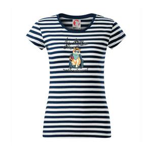 Já dřu, aby moje kočka mohl relaxovat - Sailor dámské triko