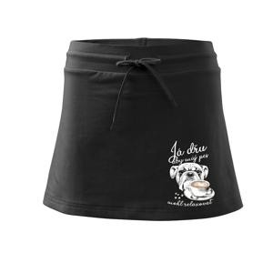 Já dřu, aby můj pes mohl relaxovat - Sportovní sukně - two in one