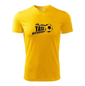 Já jsem táta - máma utočník - fotbal - Pánské triko Fantasy sportovní (dresovina)