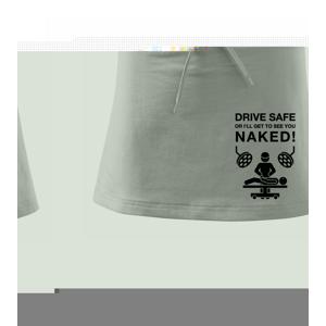 Jezdi bezpečně nebo tě uvidím nahého  (Hana-creative) - Sportovní sukně - two in one