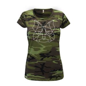 Jorkšírský teriér - Geometrie - Dámské maskáčové triko