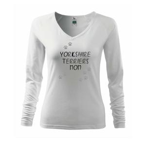 Jorkšírský teriér - Yorkshire Terriers mom (Reflexní tlapky) - Triko dámské Elegance