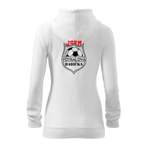 Jsem Fotbalový děda / fotbalová babička - Dámská mikina trendy zippeer s kapucí