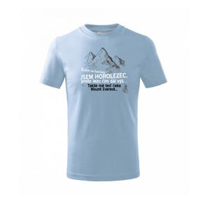 Jsem horolezec, proto lezu čím dál výš - Triko dětské basic