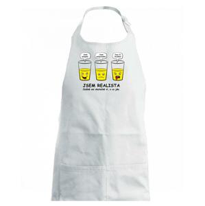 Jsem realista - skleničky (Hana-creative) - Dětská zástěra na vaření