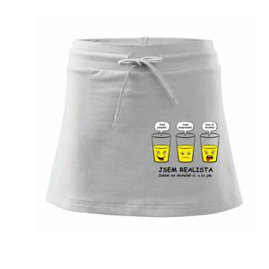 Jsem realista - skleničky (Hana-creative) - Sportovní sukně - two in one