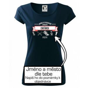 Jsem v pohodě jsem z ... (vlastní název a jméno) - Pure dámské triko