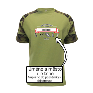 Jsem v pohodě jsem z ... (vlastní název a jméno) - Raglan Military