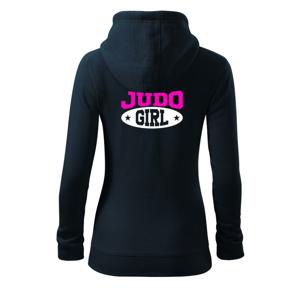 Judo Girl - Dámská mikina trendy zippeer s kapucí