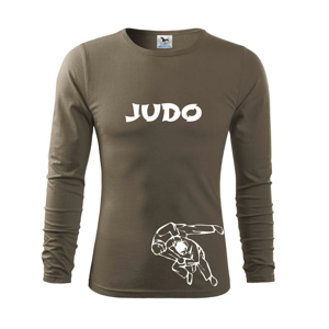 Judo nápis + postavy - Triko s dlouhým rukávem FIT-T long sleeve