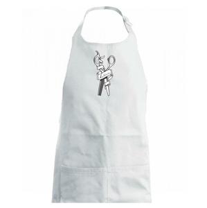 Kadeřnice nůžky a hřeben - Zástěra na vaření