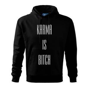 Karma nápis velký - Mikina s kapucí hooded sweater