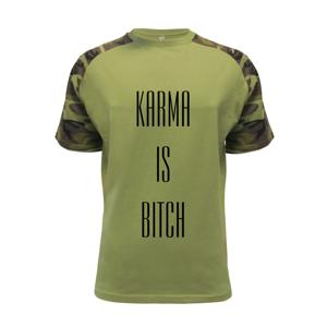 Karma nápis velký - Raglan Military