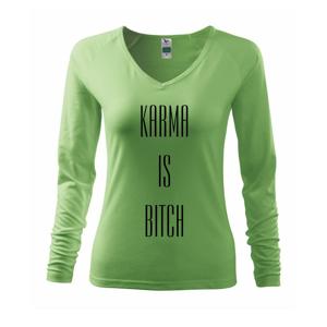 Karma nápis velký - Triko dámské Elegance