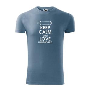 Keep calm and longboard - Replay FIT pánské triko