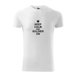 Keep calm and soldier on - Replay FIT pánské triko