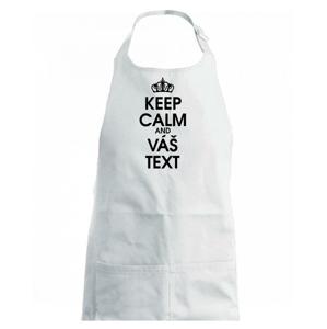 Keep calm - váš text - Dětská zástěra na vaření