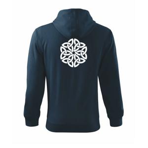 Keltský ornament - Mikina s kapucí na zip trendy zipper