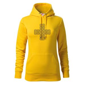 Keltský uzel kříž - Mikina dámská Cape s kapucí