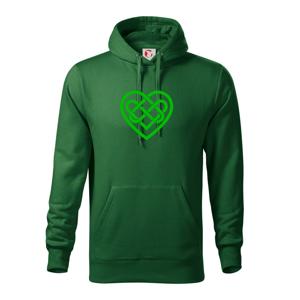 Keltský uzel srdce - Mikina s kapucí hooded sweater