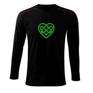 Keltský uzel srdce - Triko s dlouhým rukávem Long Sleeve