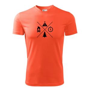 Kempování čtyřka - Dětské triko Fantasy sportovní (dresovina)