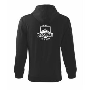 King of Winter - Mikina s kapucí na zip trendy zipper