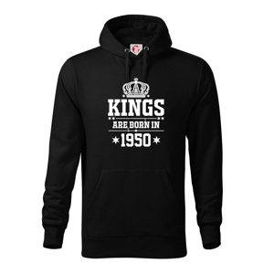 Kings are born in 1950 - Mikina s kapucí hooded sweater