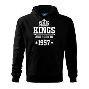 Kings are born in 1957 - Mikina s kapucí hooded sweater
