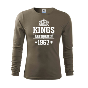 Kings are born in 1967 - Triko s dlouhým rukávem FIT-T long sleeve
