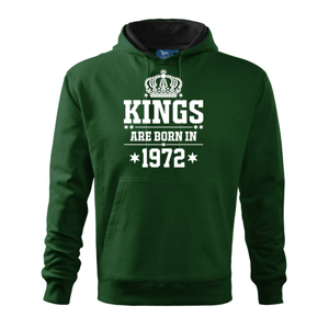 Kings are born in 1972 - Mikina s kapucí hooded sweater