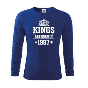 Kings are born in 1987 - Triko s dlouhým rukávem FIT-T long sleeve