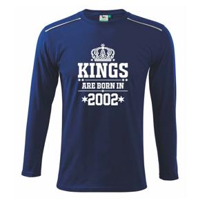 Kings are born in 2002 - Triko s dlouhým rukávem Long Sleeve