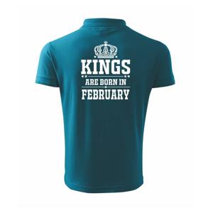 Kings are born in February - Polokošile pánská Pique Polo 203