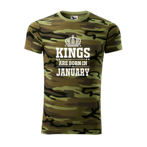 Kings are born in January - Army CAMOUFLAGE