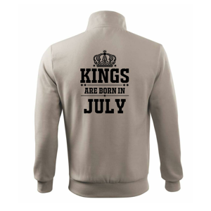 Kings are born in July - Mikina bez kapuce Adventure