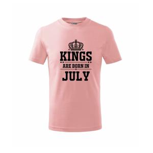 Kings are born in July - Triko dětské basic