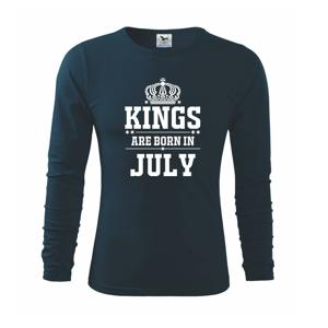Kings are born in July - Triko s dlouhým rukávem FIT-T long sleeve
